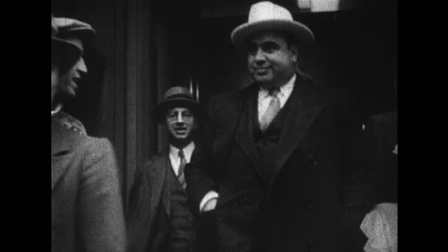 al capone enters and leaves cook county police station. - 1920 stock videos & royalty-free footage