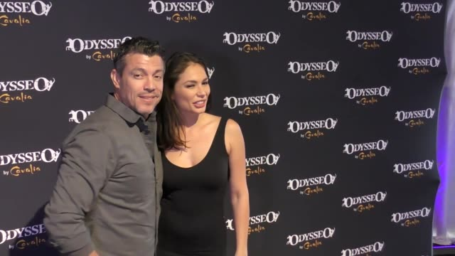 al coronel and christiana leucas at the celebrity premiere of cavalia odysseo under the white big top on november 11 2017 in camarillo california - camarillo stock videos & royalty-free footage