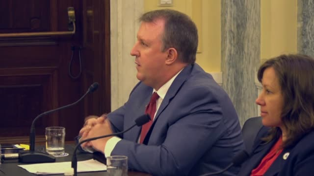 Al Dove of the Georgia Aquarium tells a Senate committee that plastic was one of the greatest threats to the ocean ecosystems requiring solutions...