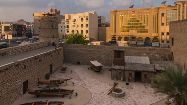 al fahidi fort - dubai museum time lapse - fortress stock videos and b-roll footage