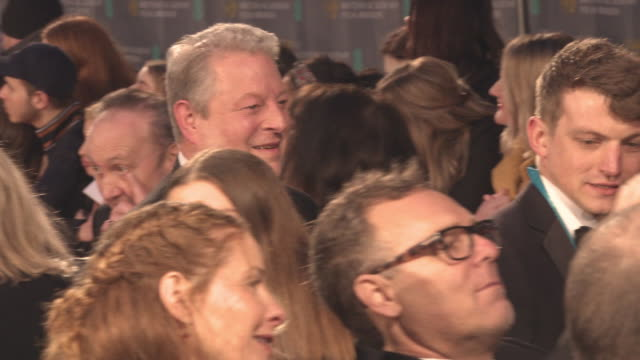 Al Gore at the EE British Academy Film Awards at Royal Albert Hall on February 18 2018 in London England