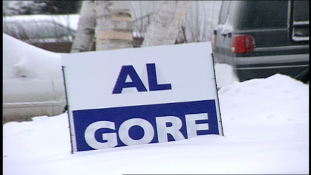 al gore for pres' sign in portsmouth new hampshire - gore stock videos and b-roll footage