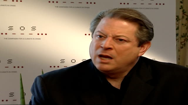 al gore interview al gore interview sot it's the mission people respond to / talks about 'live earth' concerts being ecofriendly / china already have... - western europe stock videos & royalty-free footage