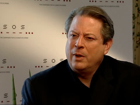 al gore interview people respond to me because of seriousness of the environmental challenge/ whole culture is driven by these giant engines of... - al gore stock videos and b-roll footage