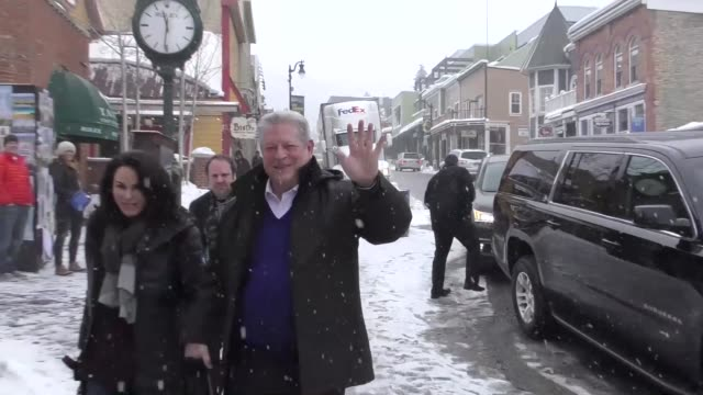 Al Gore on Main Street at the Sundance Film Festival in Park City at Celebrity Sightings in Park City UT on January 20 2017