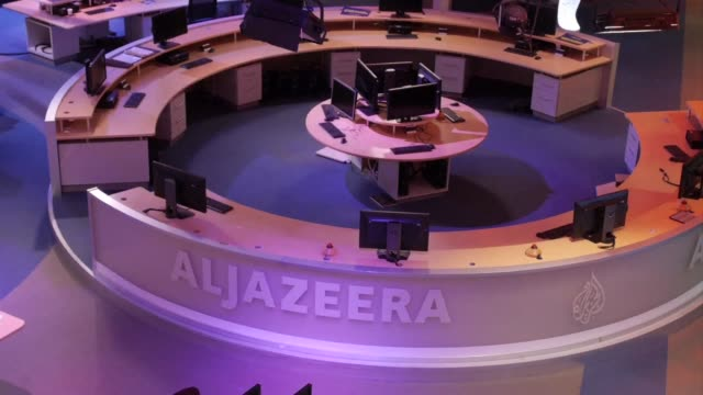al jazeera called for the swift release of three of its journalists detained in egypt for more than a year after the top appeal court on thursday... - journalist stock videos & royalty-free footage