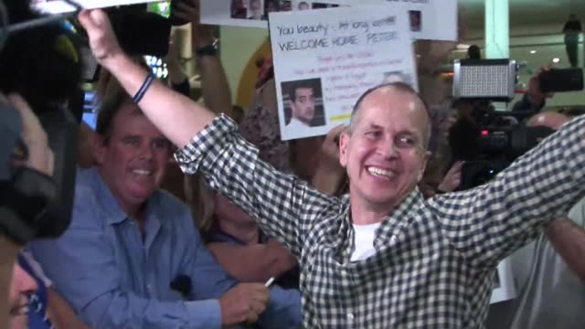 al jazeera journalist peter greste arrived home in australia on thursday after his release from egypt where he was detained for more than 400 days - journalist stock videos & royalty-free footage