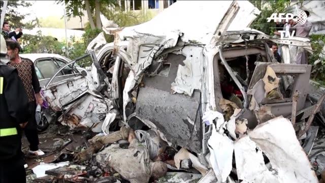 al menos 12 personas entre ellas tres contratistas civiles de la otan murieron este sabado en un atentado suicida en kabul - suicide bombing stock videos & royalty-free footage