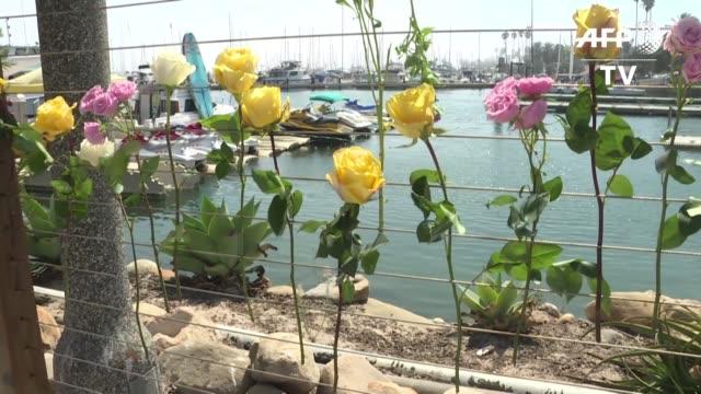 vídeos y material grabado en eventos de stock de al menos ocho personas murieron el lunes en el incendio de un barco de turismo frente a las costas de california y las posibilidades de hallar con... - ee.uu