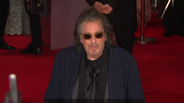 al pacino actor in the irishman on red carpet at bafta film awards 2020 - al pacino stock videos & royalty-free footage