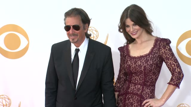 al pacino and lucila sola at 65th annual primetime emmy awards arrivals al pacino and lucila sola at 65th annual primetime at nokia theatre la live... - al pacino stock videos & royalty-free footage