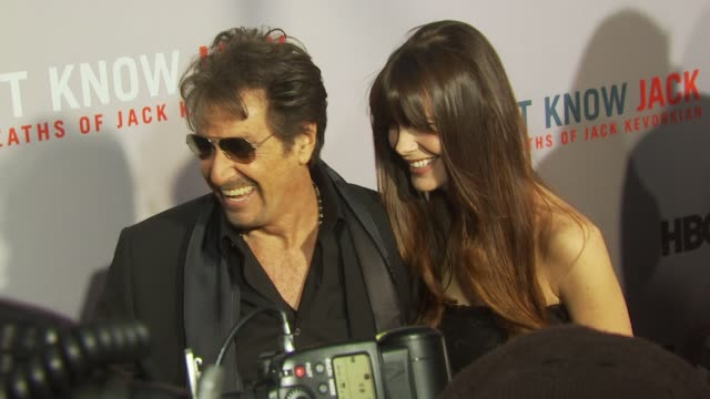 Al Pacino and Lucila Sola at the HBO Film's 'You Don't Know Jack' New York Premiere at New York NY
