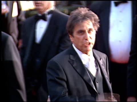 Al Pacino at the 2001 Golden Globe Awards at the Beverly Hilton in Beverly Hills California on January 21 2001