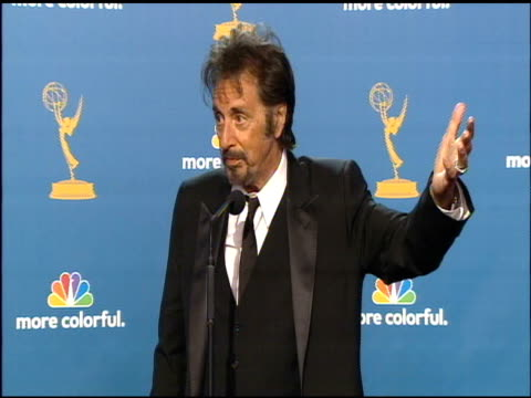 al pacino at the 62nd primetime emmy awards press room at los angeles ca - al pacino stock videos & royalty-free footage