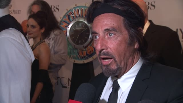 al pacino at the 65th annual tony awards red carpet media room at new york ny - al pacino stock videos & royalty-free footage