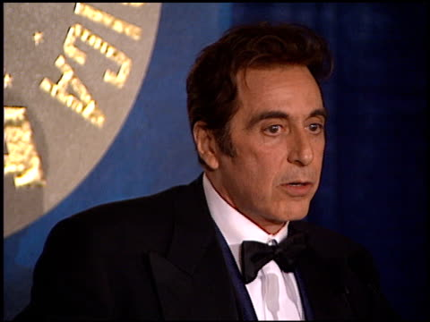 al pacino at the directors guild awards press room at the century plaza hotel in century city california on march 8 1997 - al pacino stock videos & royalty-free footage