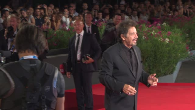 al pacino at 'the humbling' red carpet 71st venice international film festival at palazzo del casino on august 30 2014 in venice italy - al pacino stock videos & royalty-free footage