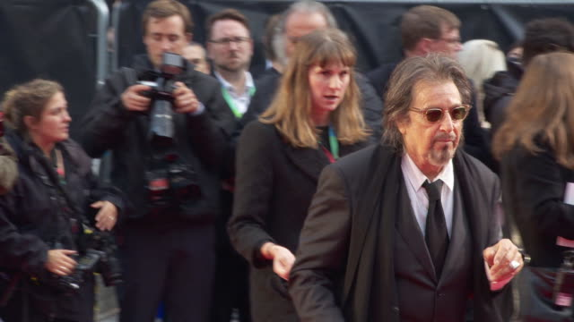 al pacino at 'the irishman' international premiere 63rd bfi london film festival closing carpet on october 13 2019 in london england - al pacino stock videos & royalty-free footage