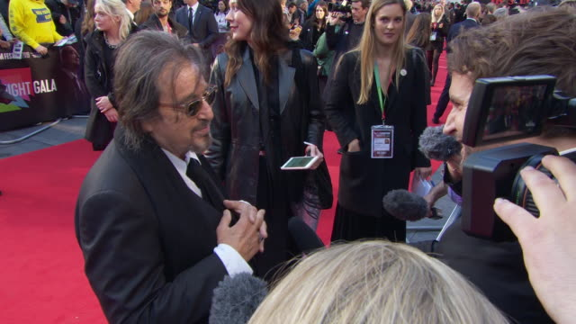 al pacino at 'the irishman' international premiere 63rd bfi london film festival closing carpet on october 13 2019 in london england - premiere stock-videos und b-roll-filmmaterial
