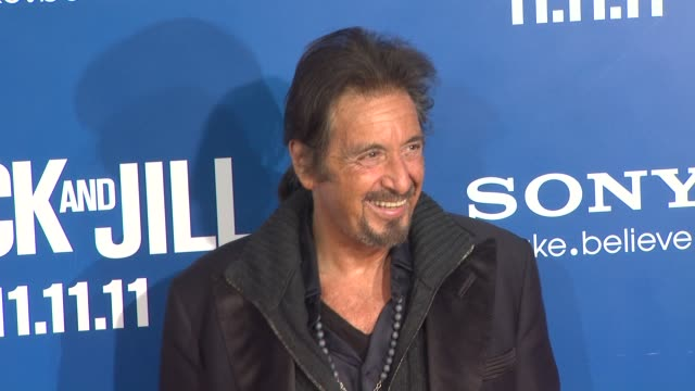 al pacino at the 'jack and jill' world premiere at westwood ca - ウェストウッド地区点の映像素材/bロール