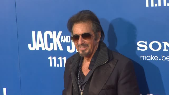 al pacino at the 'jack and jill' world premiere at westwood ca - al pacino stock videos & royalty-free footage