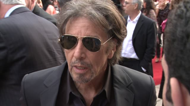 al pacino at the righteous kill uk premiere at london - al pacino stock videos & royalty-free footage