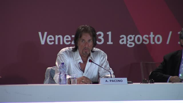 al pacino at the wilde salome press conference venice film festival 2011 at venice - al pacino stock videos & royalty-free footage