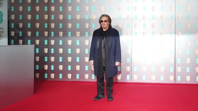 al pacino attends the ee british academy film awards 2020 at royal albert hall on february 02 2020 in london england - al pacino stock videos & royalty-free footage