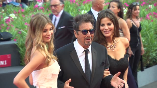Al Pacino Camila Sola Lucila Sola at 'Manglehorn' Red Carpet 71st Venice International Film Festival at Palazzo del Casino on August 30 2014 in...