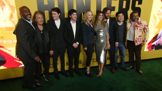 al pacino david weil logan lerman jennifer salke nikki toscano josh radnor jordan peele at the world premiere of amazon original hunters at dga... - al pacino stock videos & royalty-free footage