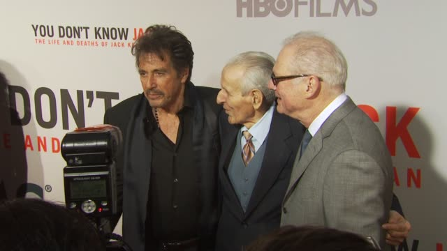 Al Pacino Dr Jack Kevorkian and guest at the HBO Film's 'You Don't Know Jack' New York Premiere at New York NY