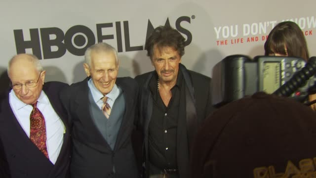 Al Pacino Dr Jack Kevorkian and Lucila Sola at the HBO Film's 'You Don't Know Jack' New York Premiere at New York NY