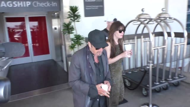 Al Pacino Lucila Sola arriving at LAX Airport in Los Angeles in Celebrity Sightings in Los Angeles
