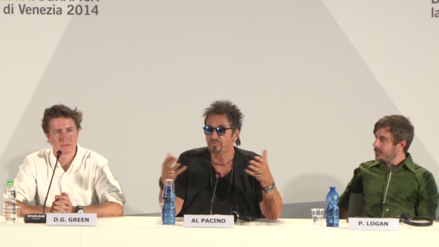 interview al pacino on how hollywood has changed watching marvels 'guardians of the galaxy' at 'manglehorn' press conference 71st venice... - al pacino stock videos & royalty-free footage