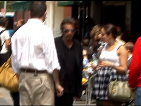 Al Pacino on set of Vittoria Coffee commercial in New York at the Celebrity Sightings in New York at New York NY