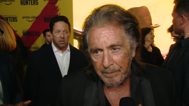 interview al pacino on the event at the world premiere of amazon original hunters at dga theater on february 19 2020 in los angeles california - al pacino stock videos & royalty-free footage