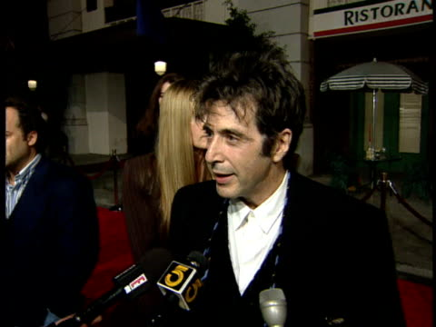 al pacino talks about the film and script - al pacino stock videos & royalty-free footage