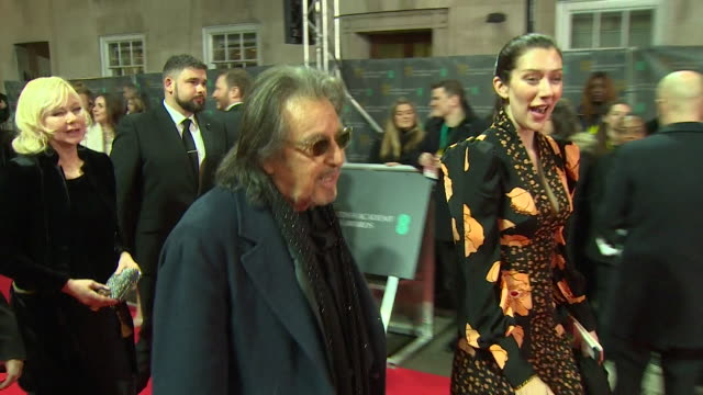 al pacino walking the red carpet at the bafta film awards 2020 - al pacino stock videos & royalty-free footage