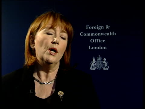 al qaida terror suspects to face military tribunal itn london foreign office baroness symons interview sot americans have made it clear they expect... - baroness stock videos & royalty-free footage