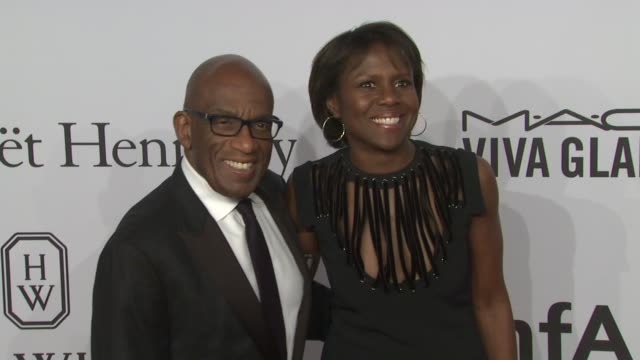 al roker and deborah roberts amfar to honor harvey weinstein at annual new york gala at cipriani wall street on february 10, 2016 in new york city. - al roker stock videos & royalty-free footage