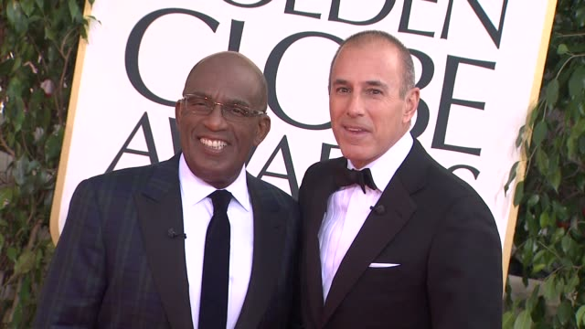 al roker and matt lauer at the 70th annual golden globe awards - arrivals in beverly hills, ca, on 1/13/13. - al roker stock videos & royalty-free footage