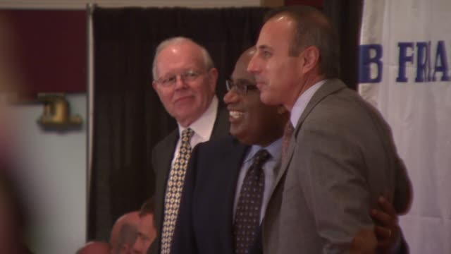 al roker and matt lauer at the friars club roast of matt lauer at new york ny. - matt lauer stock videos & royalty-free footage