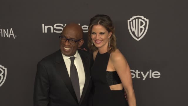 al roker and natalie morales at 17th annual instyle and warner bros. pictures golden globe after-party at the beverly hilton hotel on january 10,... - al roker stock videos & royalty-free footage