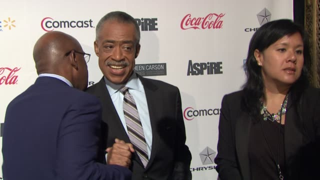 "al roker and reverend al sharpton at ""aspire"" television network launch event at cipriani 42nd street on june 27, 2012 in new york, new york - al roker stock videos & royalty-free footage"