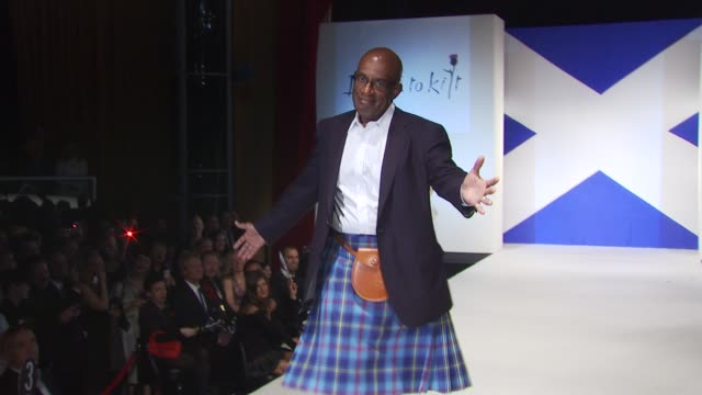 al roker at the 8th annual 'dressed to kilt' charity fashion show at new york ny. - al roker stock videos & royalty-free footage