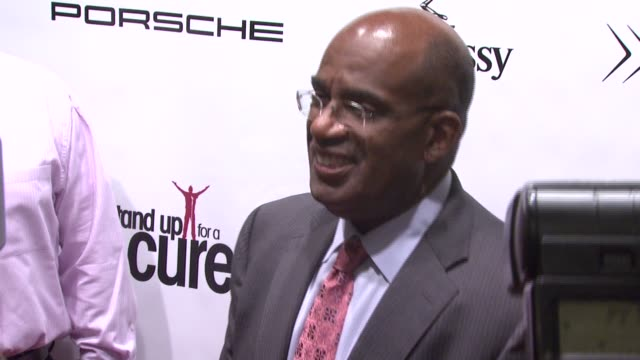 al roker at the stand up for a cure - a concert to benefit memorial sloan-kettering cancer center at the hammerstein ballroom in new york, new york... - al roker stock videos & royalty-free footage