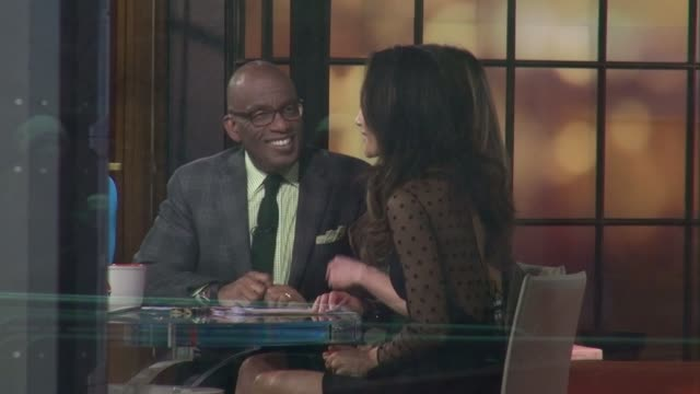 al roker & maggie q on the set of the today show in rockefeller center in celebrity sightings in new york, - al roker stock videos & royalty-free footage