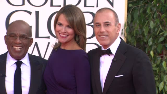 al roker, savannah guthrie, matt lauer, and natalie morales at the 70th annual golden globe awards - arrivals in beverly hills, ca, on 1/13/13. - al roker stock videos & royalty-free footage