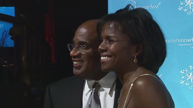 al roker/ weatherman and deborah roberts/ journalist at the third annual unicef snowflake ball at cipriani 42nd street in new york, new york on... - al roker stock videos & royalty-free footage