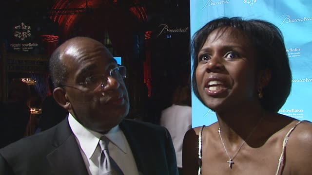al roker/ weatherman and deborah roberts/ journalist they discuss why they love new york during the holidays and their plans for new year's eve at... - al roker stock videos & royalty-free footage